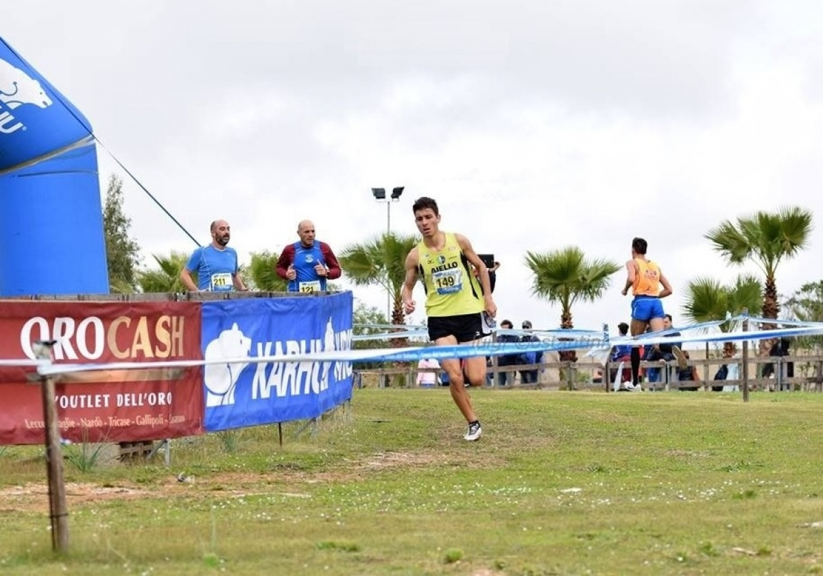 Edoardo Misurelli in gara al Cross del Salento